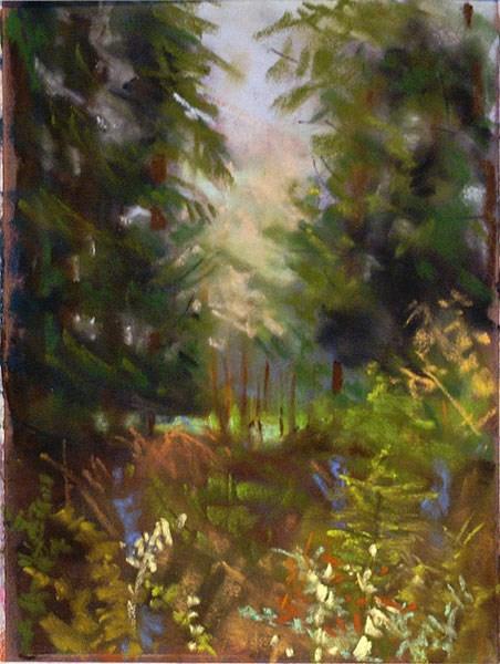 """""""Distant Meadow"""" original fine art by Kay Dewar"""