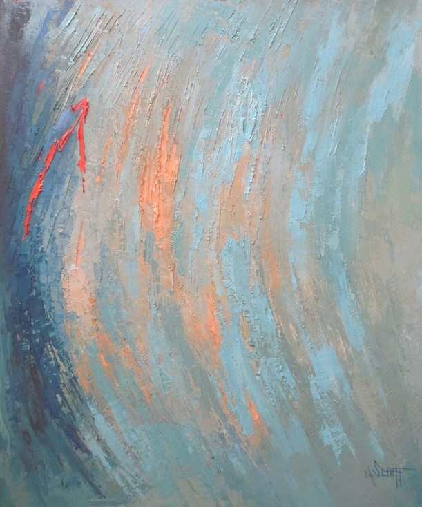 """""""Contemporary Abstract Painting, 20x24x.75, Daily Painting"""" original fine art by Carol Schiff"""