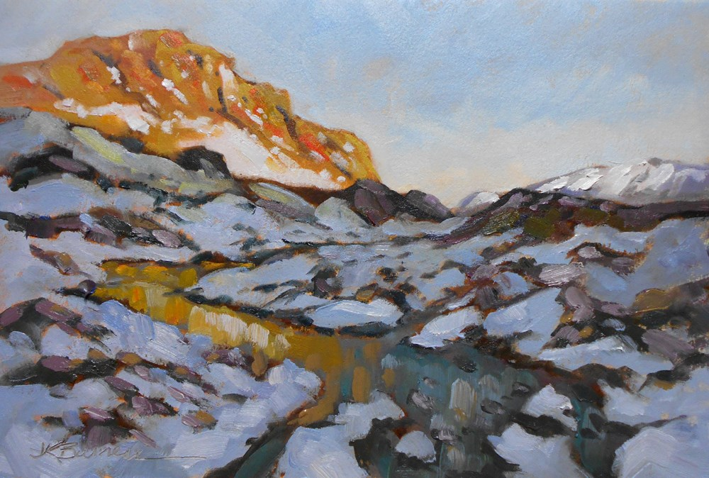 """Spring Melt--Greenland"" original fine art by Jeanne Bruneau"