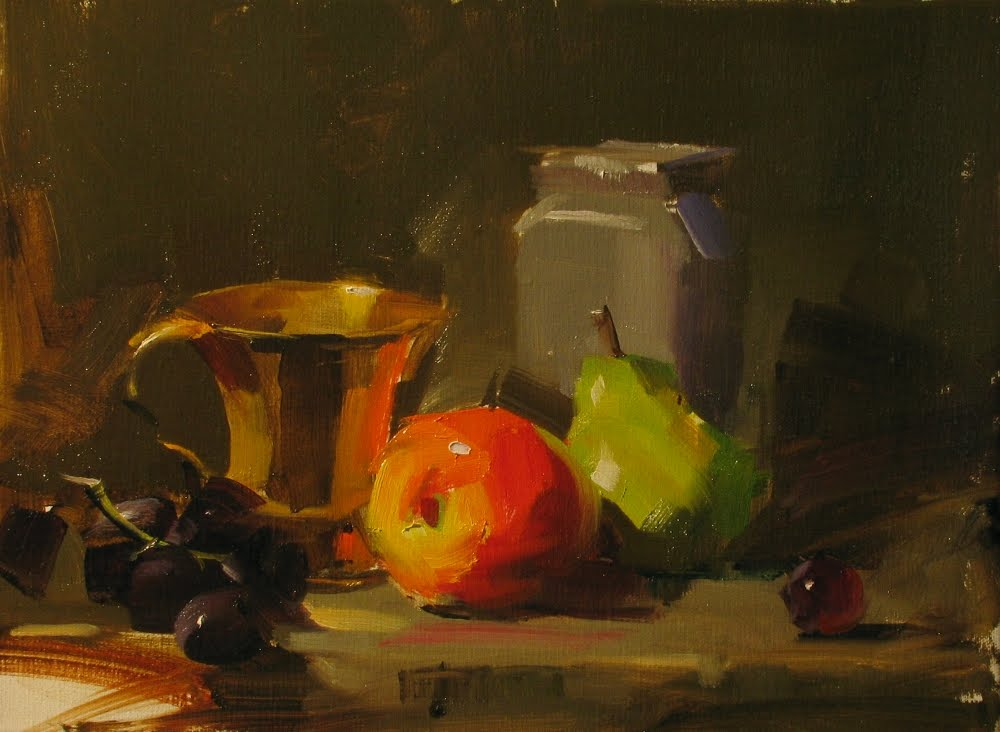 """Demo at Noblesville 1"" original fine art by Qiang Huang"