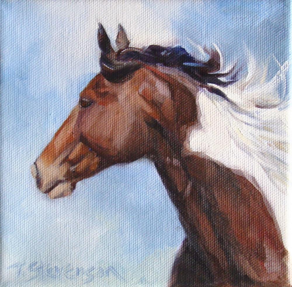 """Heads Up #20"" original fine art by Trish Stevenson"