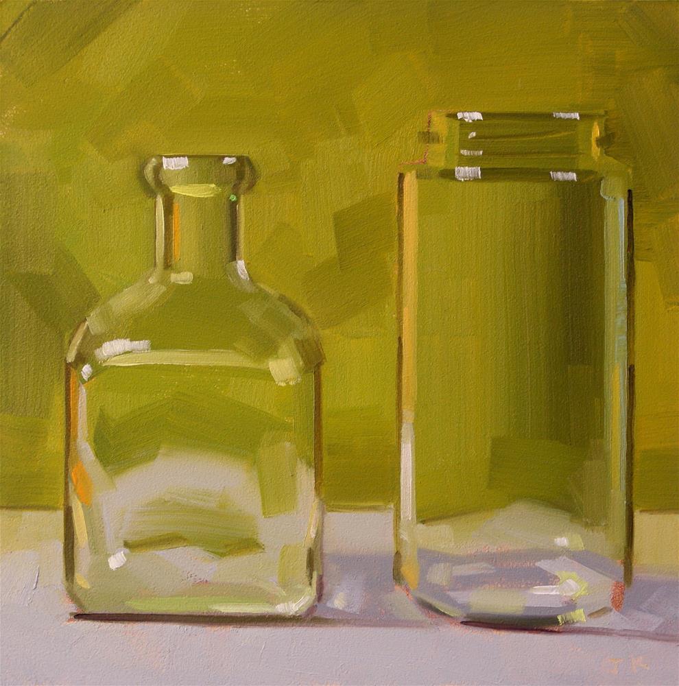 """Duo in Green"" original fine art by Jiyoung Kim"