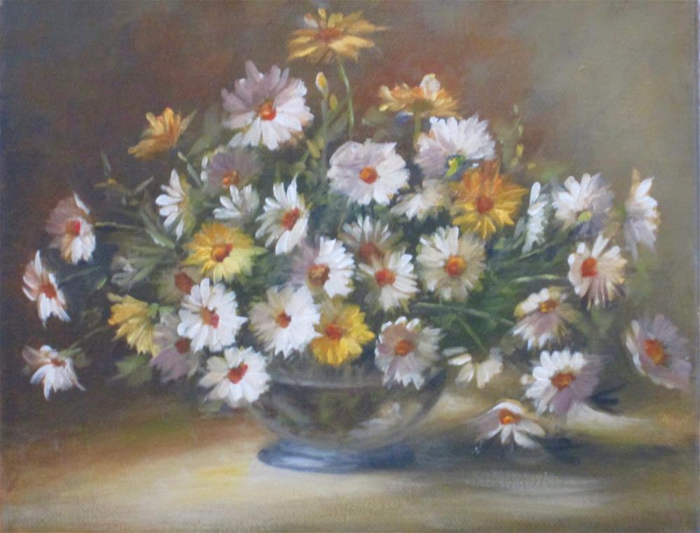 """Daisies Overflowing"" original fine art by Barbara Wagner"