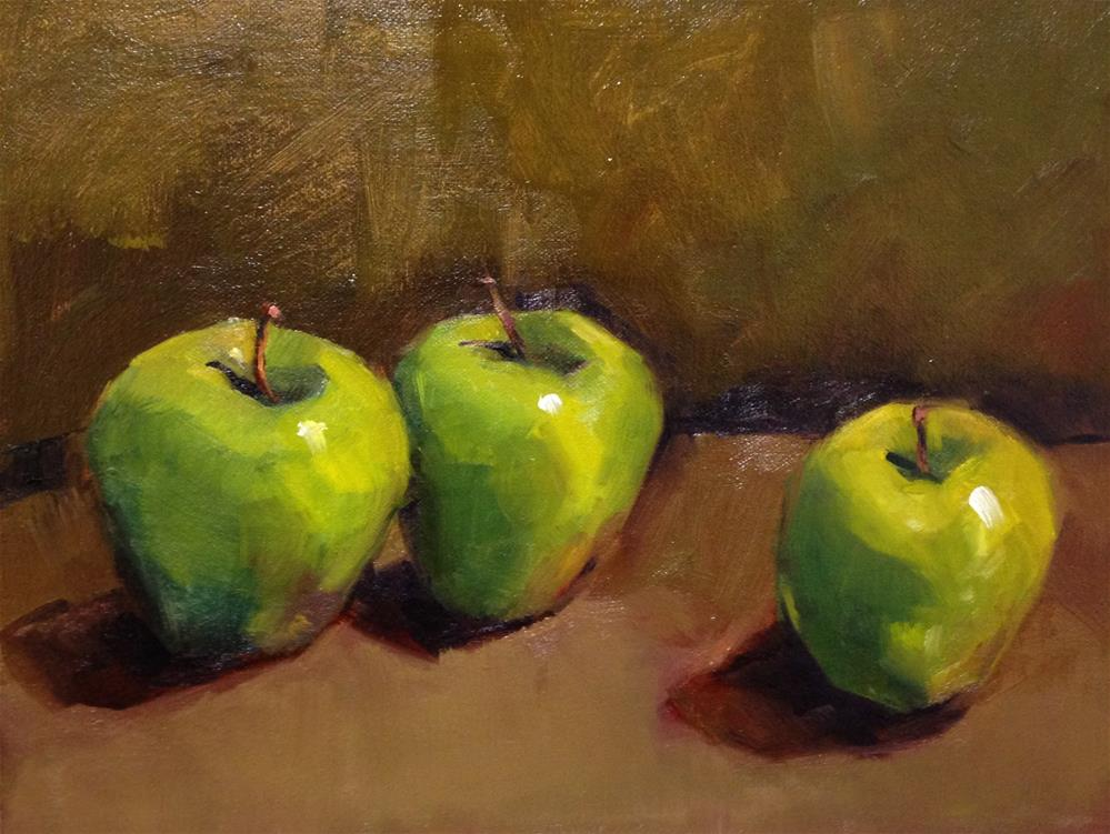"""Apple Study"" original fine art by Laurie Johnson Lepkowska"