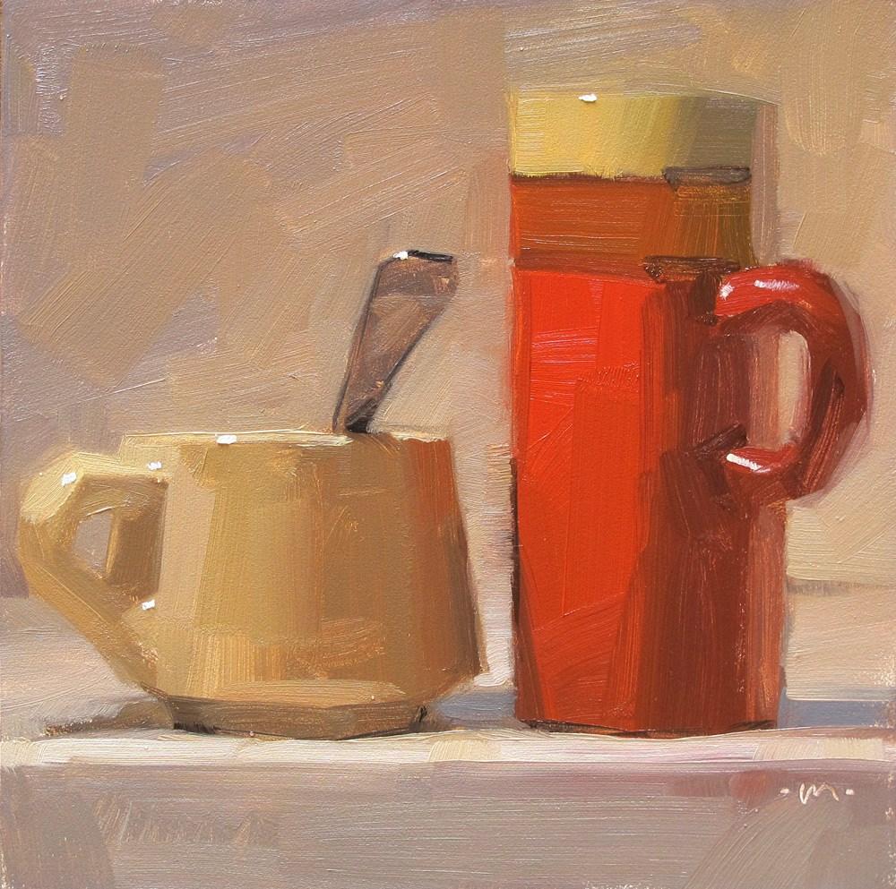 """""""Different Ways the Start the Day"""" original fine art by Carol Marine"""