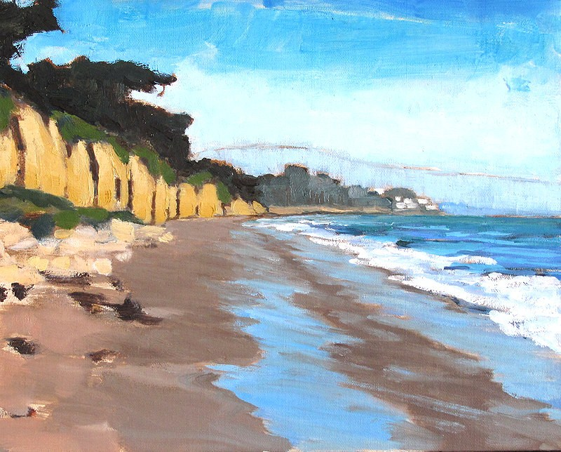 """Cliffs by the Sea in Santa Barbara"" original fine art by Kevin Inman"