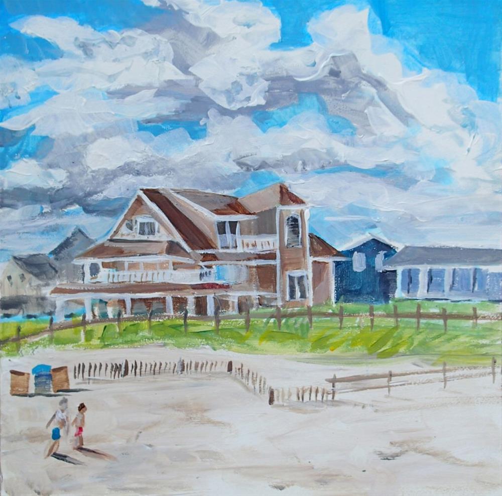 """""""The Beach House"""" original fine art by Lauren Kuhn"""