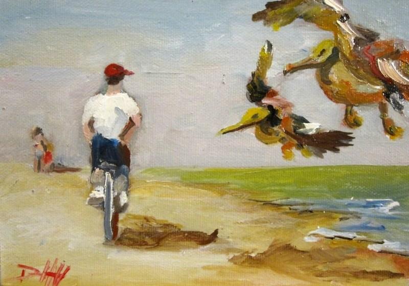 """Beach Ride"" original fine art by Delilah Smith"
