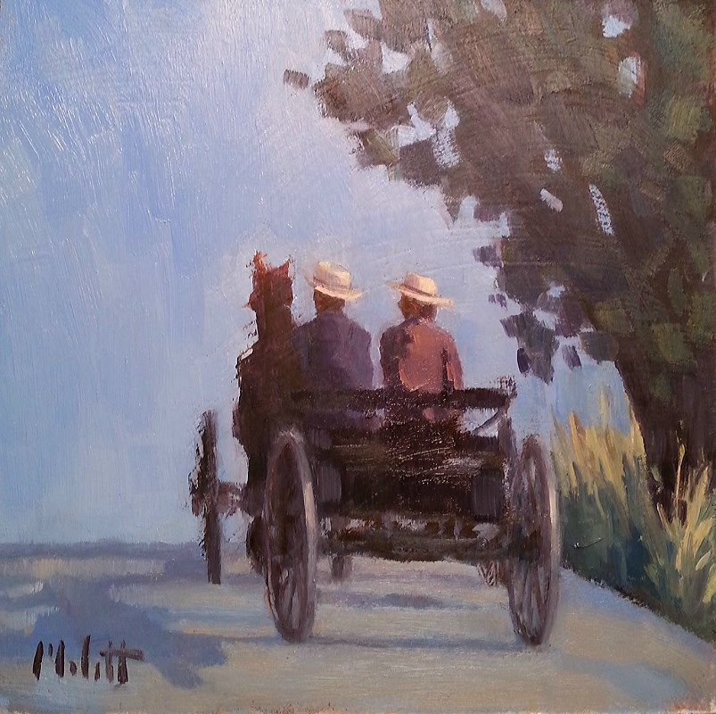 """Horse and Buggy Amish Country original oil painting"" original fine art by Heidi Malott"