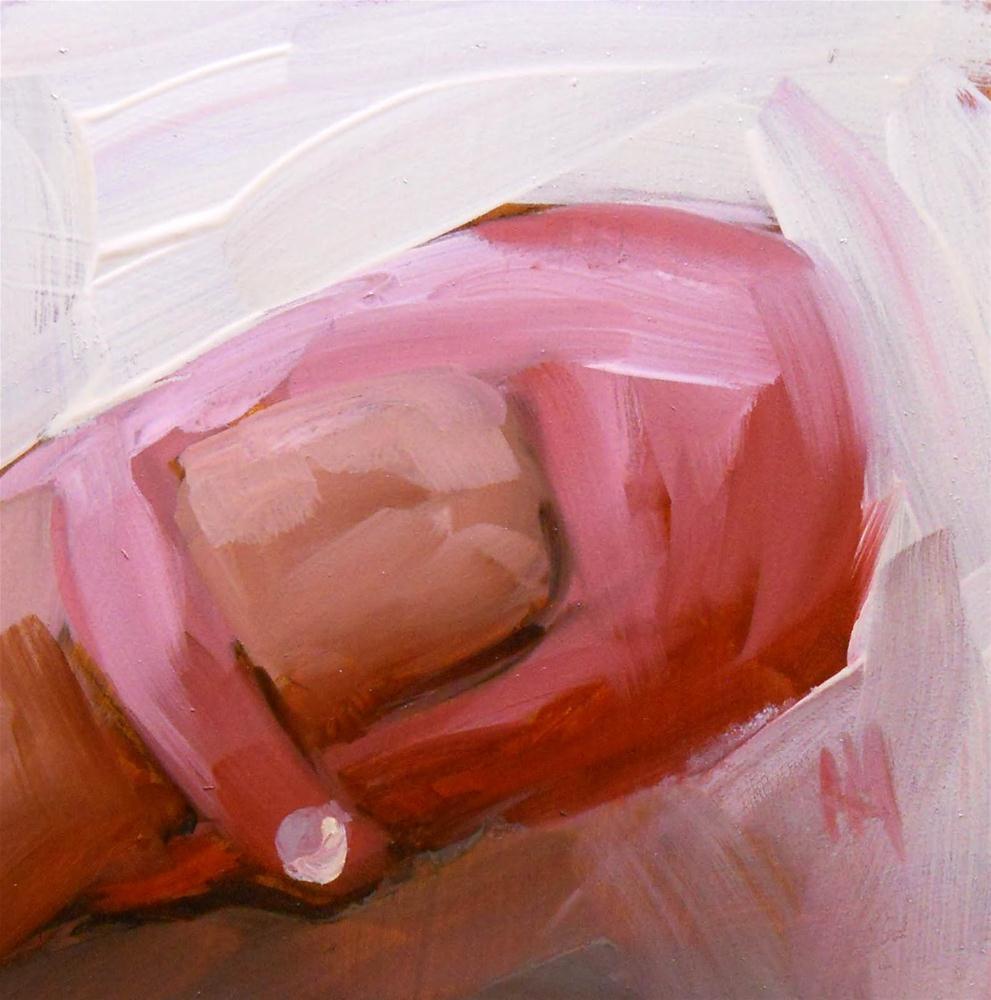 """pink baby shoes"" original fine art by Angela Moulton"