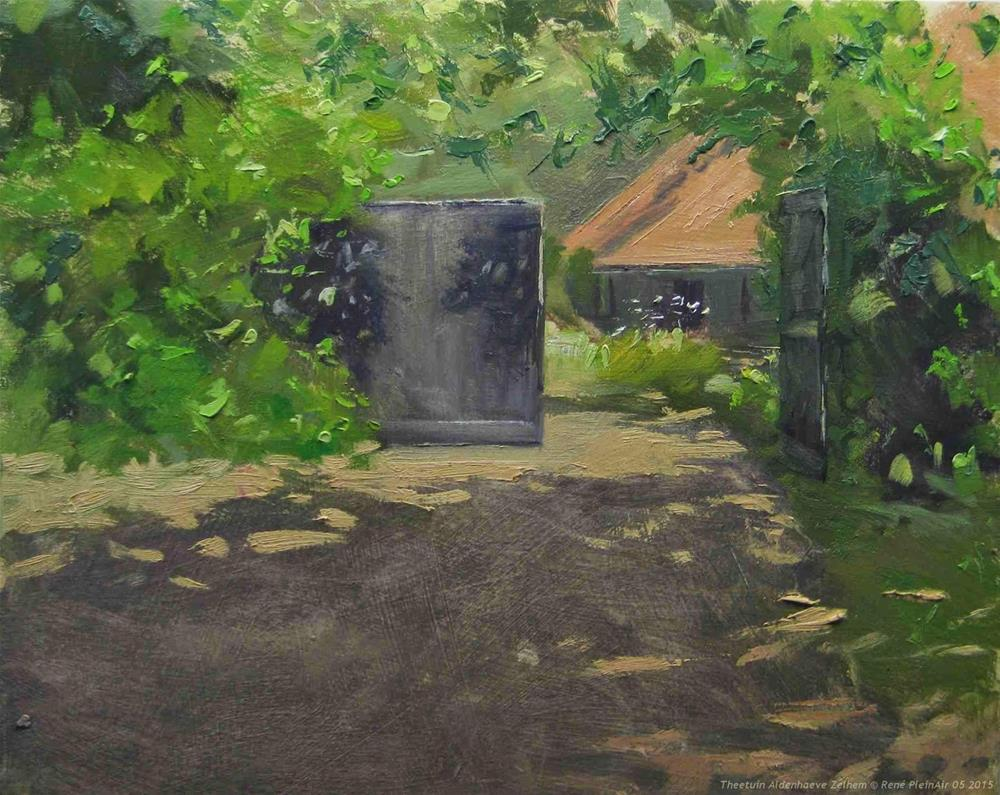 """Tea garden Aldenheave Zelhem. The Netherlands."" original fine art by René PleinAir"