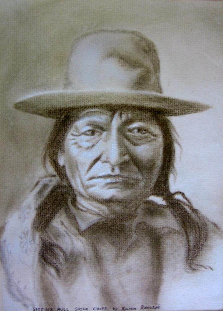 """""""Sitting Bull"""" original fine art by Karen Roncari"""