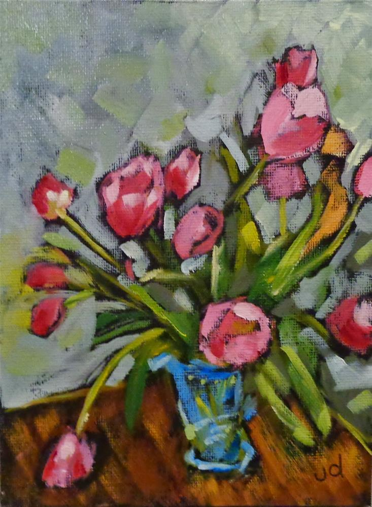 """Turquoise  vase"" original fine art by Jean Delaney"