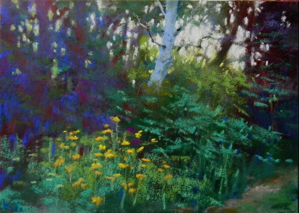 """""""Morning Walk"""" original fine art by Celine K.  Yong"""