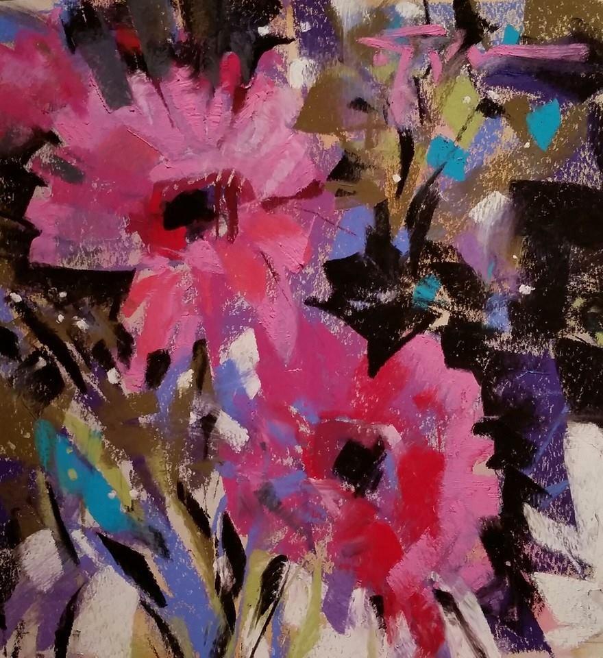 """Ruby Ruckus"" original fine art by Jennifer Evenhus"