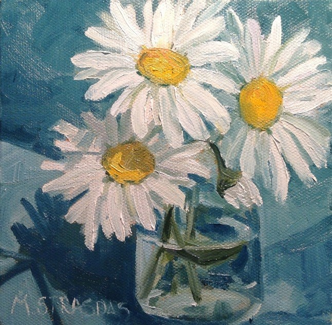 """Daisy Days"" original fine art by Marcela Strasdas"