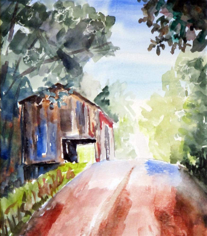 """TN Tobacco Barn"" original fine art by  David Beale"