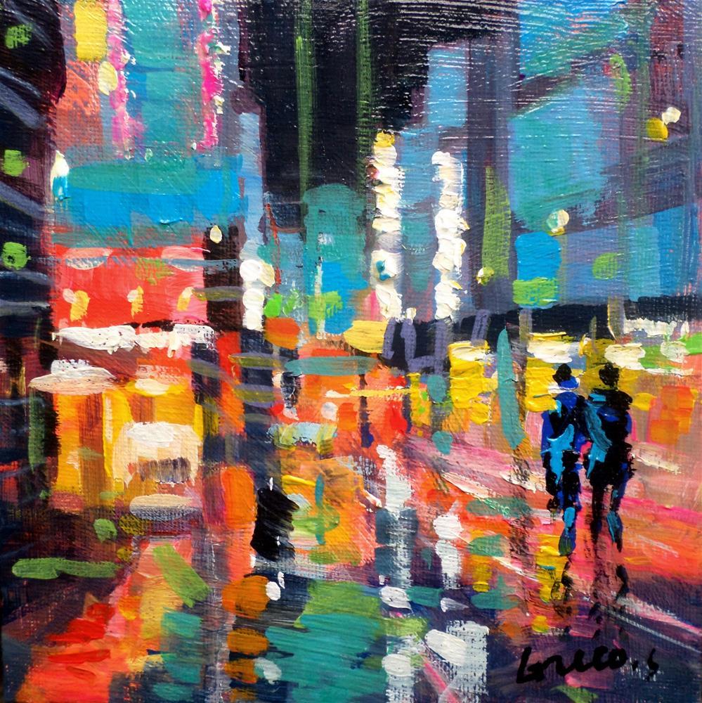 """""""Reflextion in new york 2"""" original fine art by salvatore greco"""