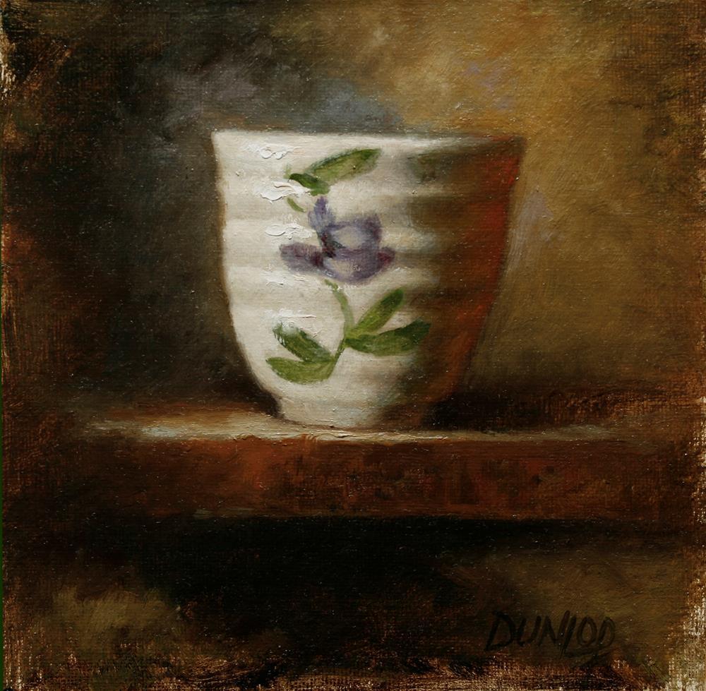 """Teacup #5"" original fine art by Bobbi Dunlop"