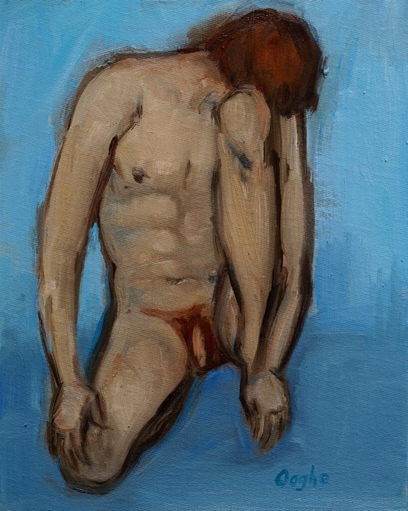 """Kneeling Man"" original fine art by Angela Ooghe"