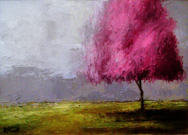 """Cherry Tree"" original fine art by Bob Kimball"