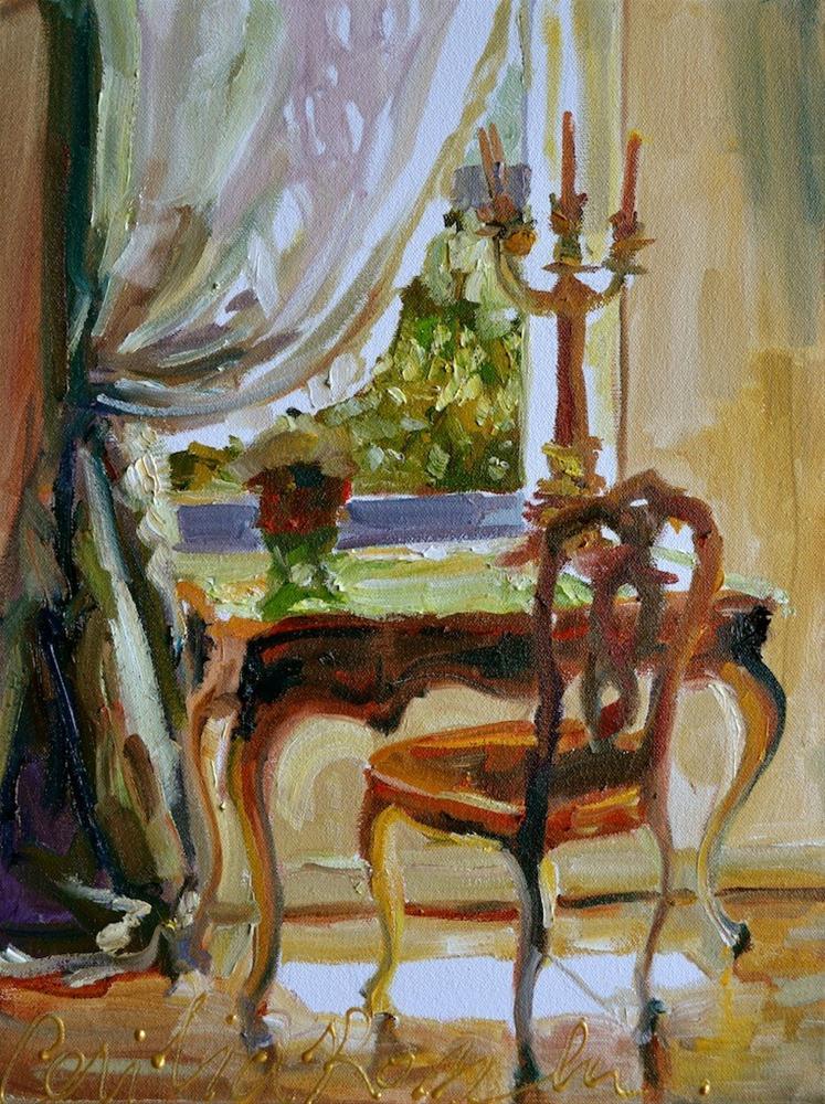 """""""LE BUREAU"""" original fine art by Cecilia Rosslee"""