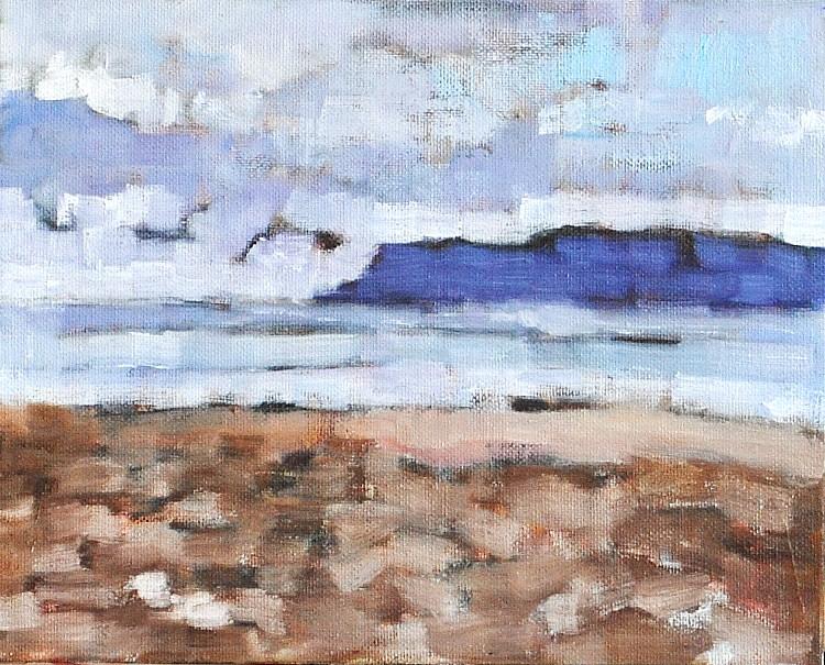"""Point Loma from Coronado"" original fine art by Kevin Inman"
