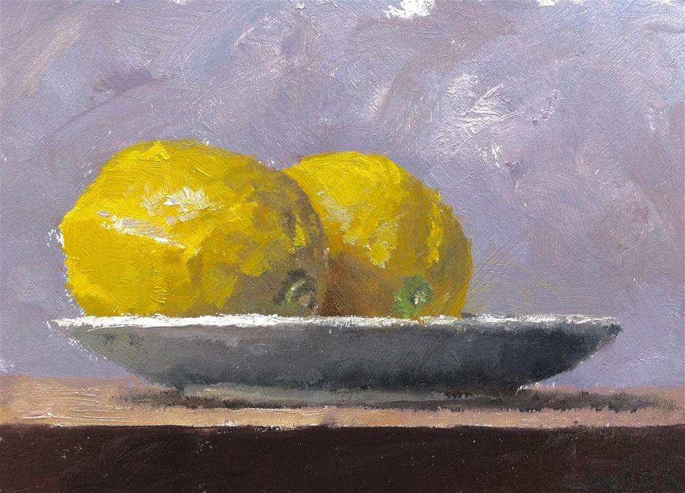 """Lemons"" original fine art by Richard Jones"