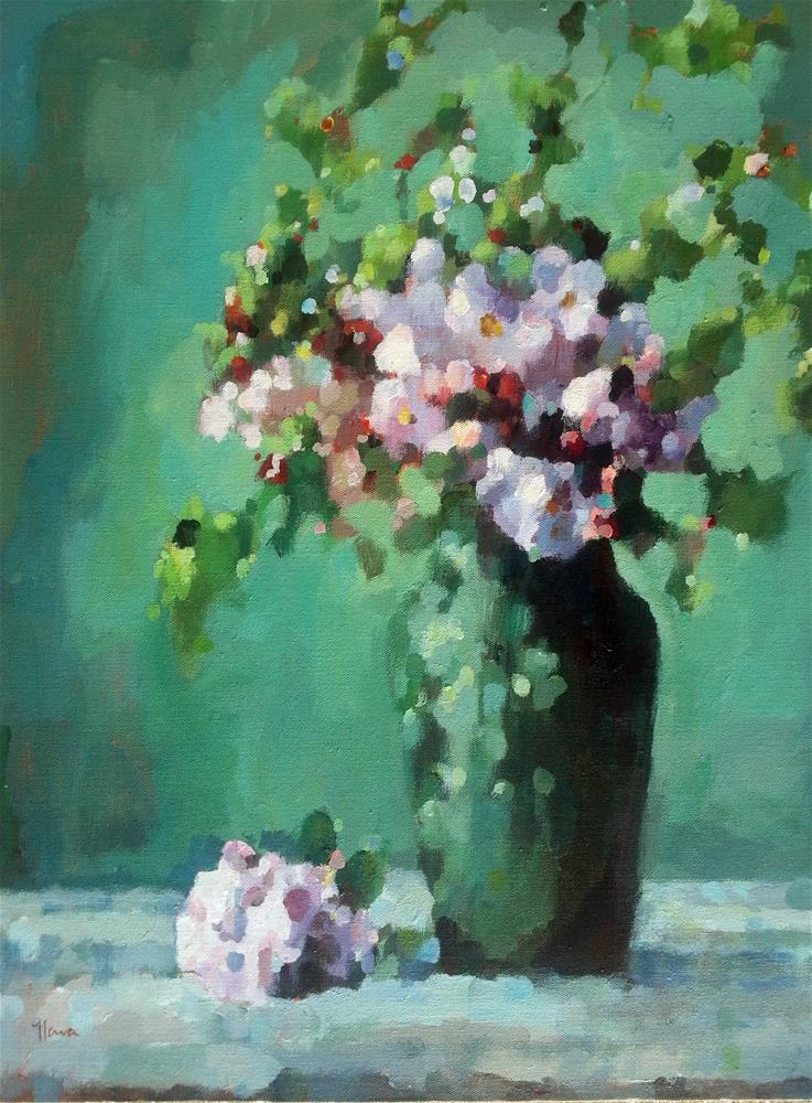 """The Versatility of Green"" original fine art by Nava Judith"