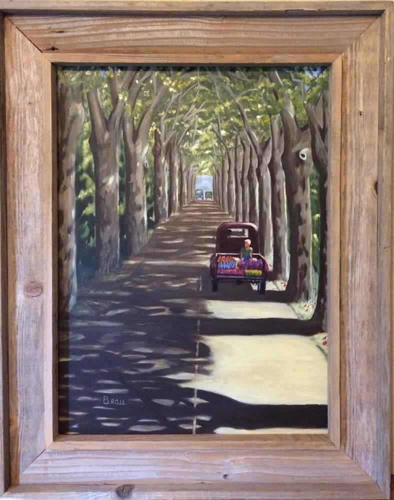 """To the market (a la Marche)"" original fine art by Beau Crump"