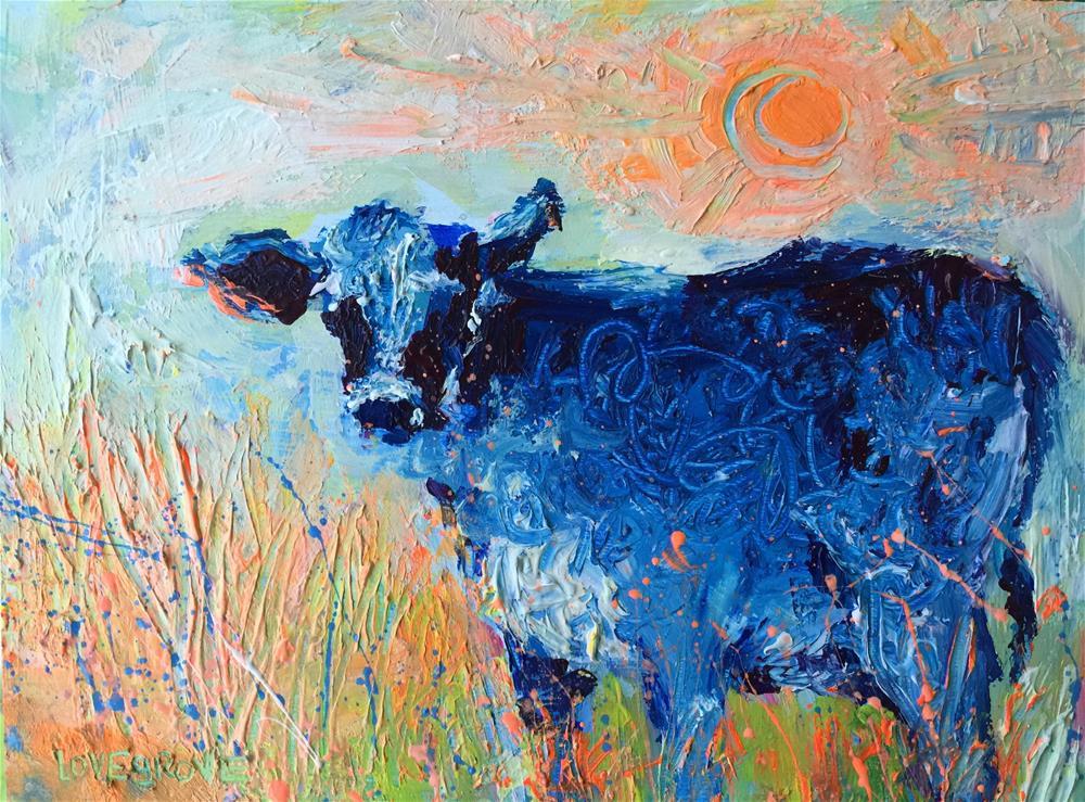 """Sunshine On My Shoulders"" original fine art by Leoma Lovegrove"