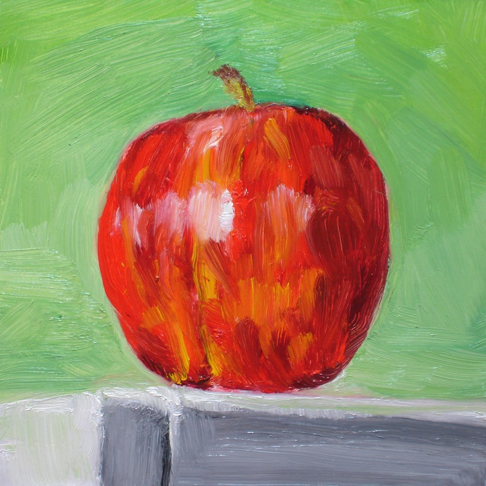 """The Left Hand Apple"" original fine art by Linda Lowery"