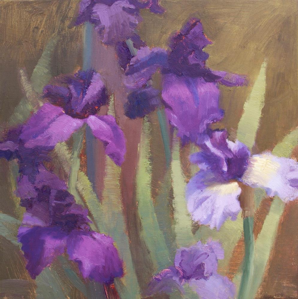 """""""#115 Angel iris"""" original fine art by Nancy Wallace"""