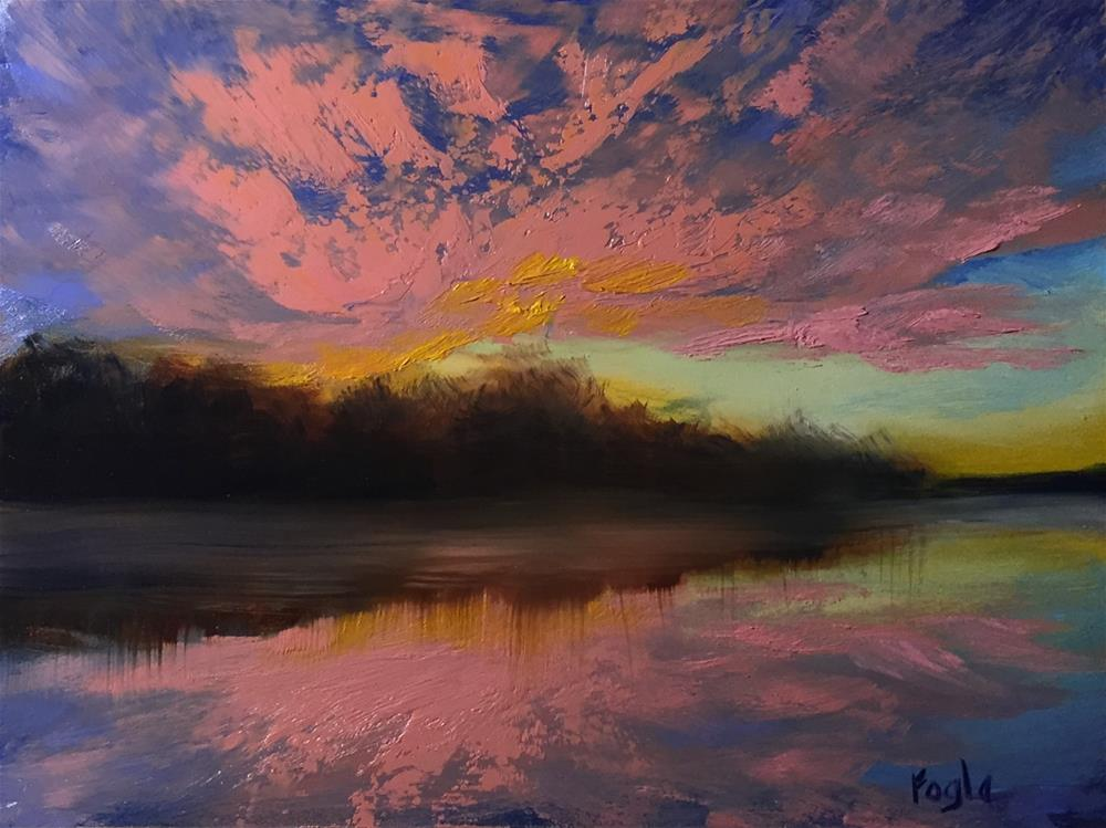 """15-4 Resolution 1:  Enjoy More Sunrises"" original fine art by Rachel Fogle"
