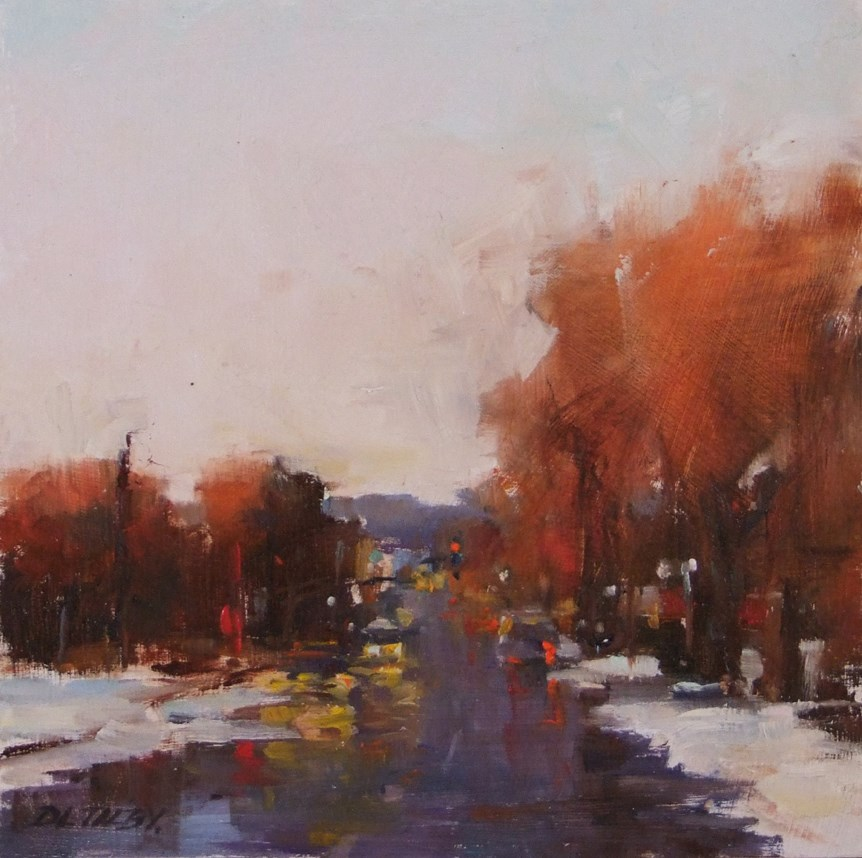 """Early Snow"" original fine art by Deborah Tilby"