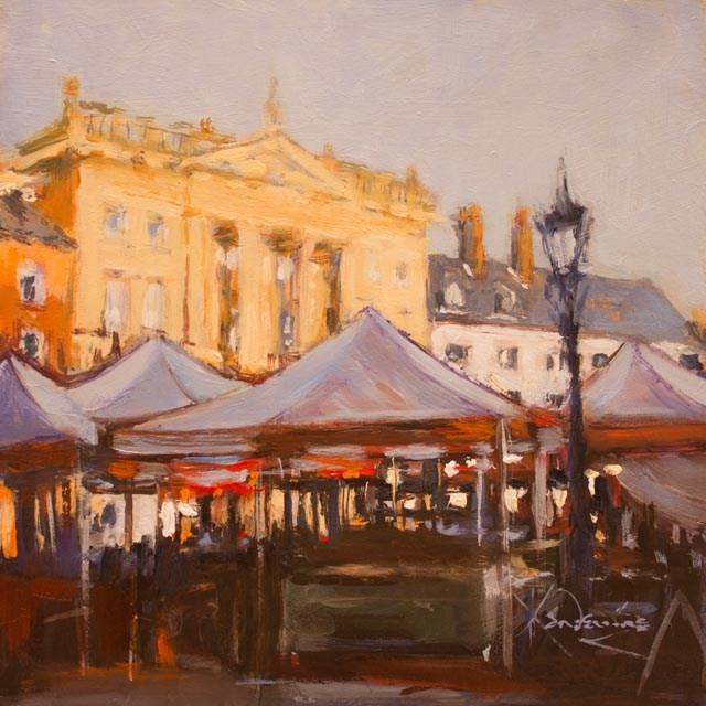 """Newark Market"" original fine art by Ken Devine"