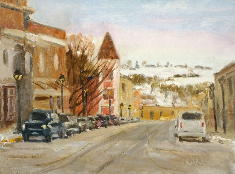 """High Street en Plein air"" original fine art by Daniel Fishback"