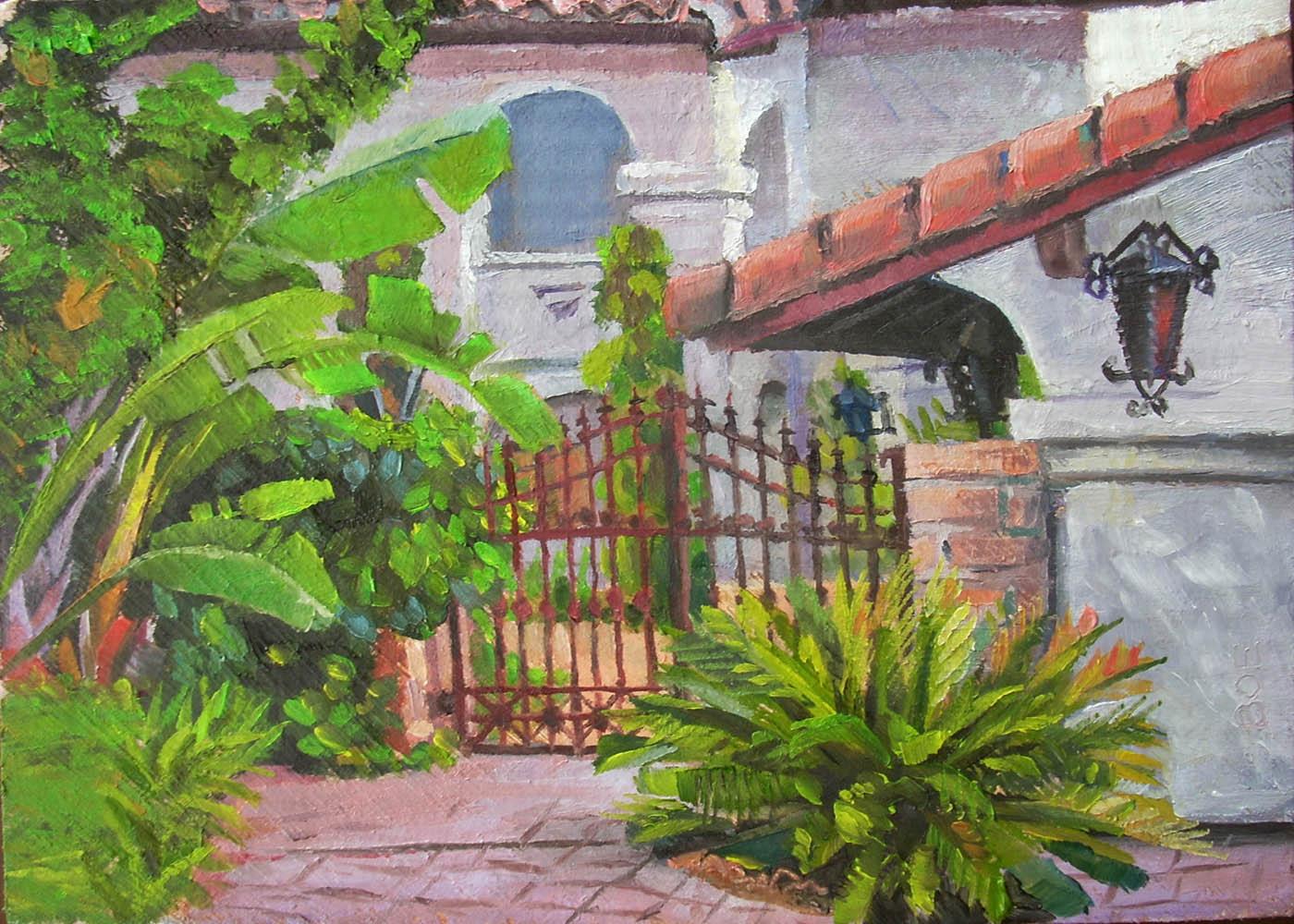 """Puerta de Esteban"" original fine art by Karen Boe"