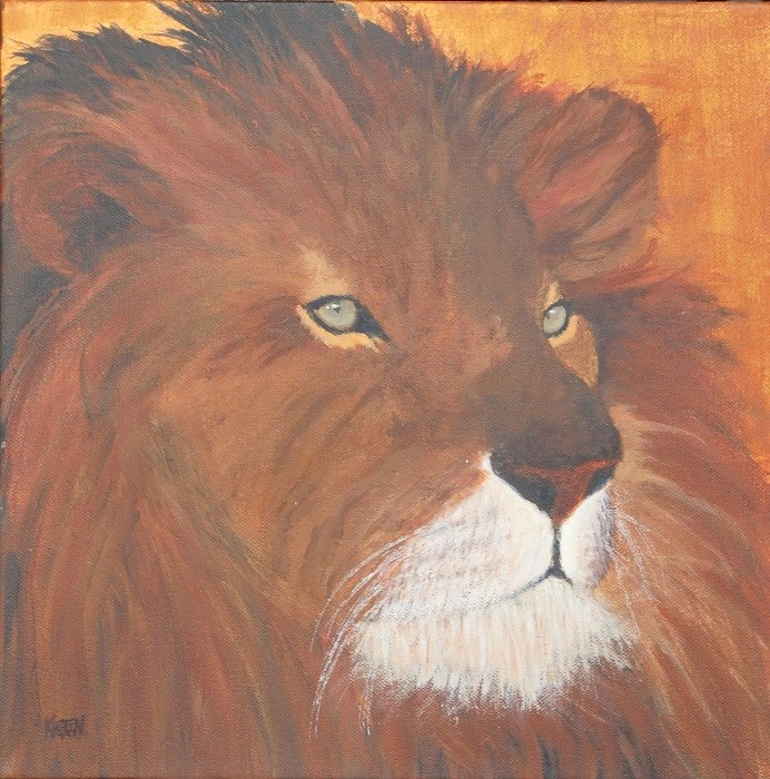 """King of the Forest"" original fine art by karen richardson"