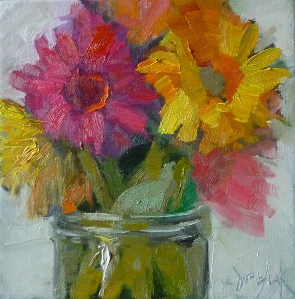 """Tiny Floral"" original fine art by Carol Josefiak"