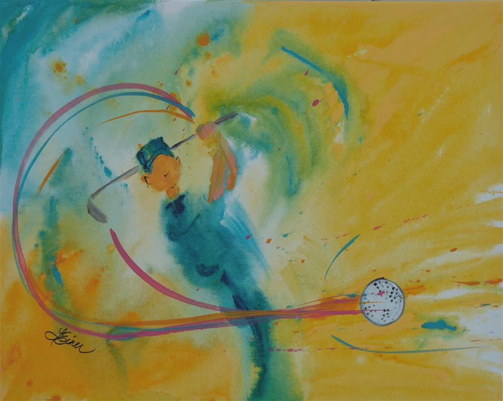 """Fore!"" original fine art by Terri Einer"