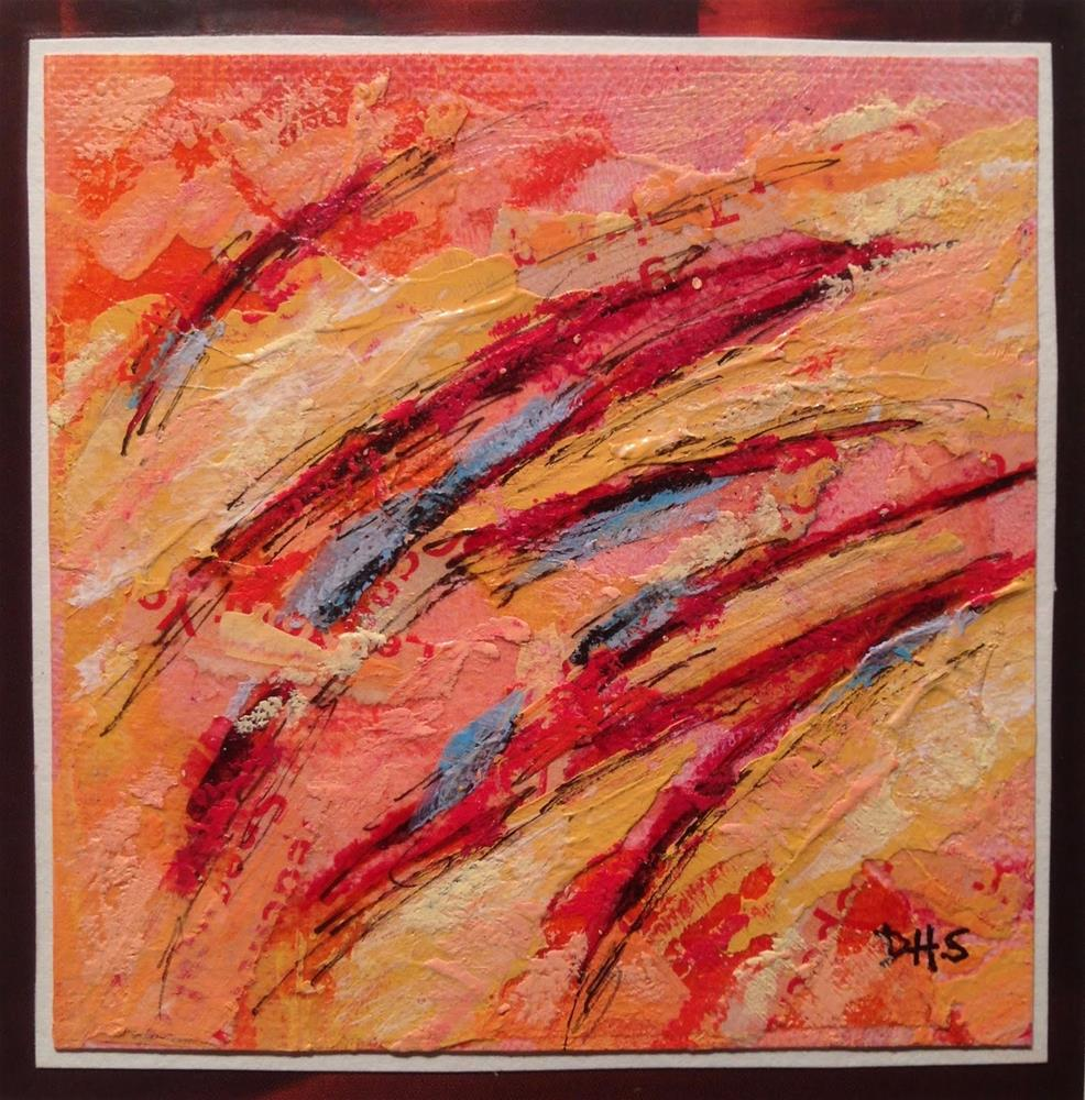 """""""acrylic, collage, ink, pencil, and oil pastel on canvas paper"""" original fine art by Dotty  Seiter"""