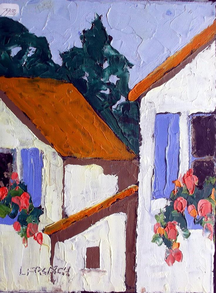 """Provence Village"" original fine art by lynne french"