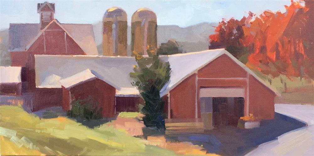 """The Apple Barn"" original fine art by Sarah Sedwick"