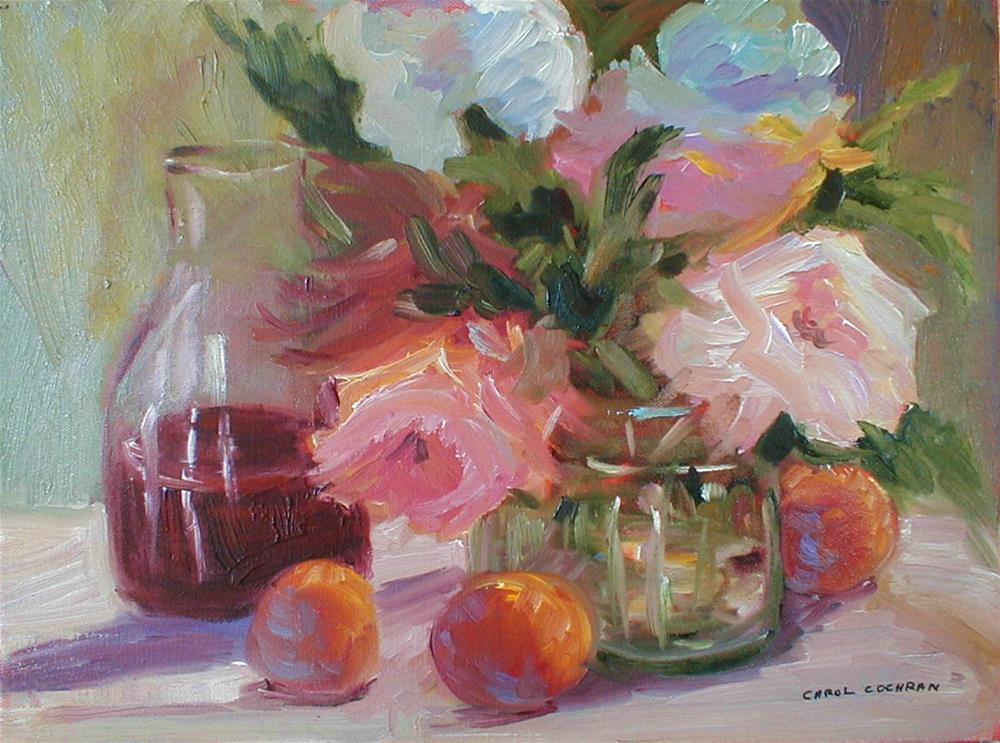 """Afternoon of Wine & Roses"" original fine art by Carol Cochran"