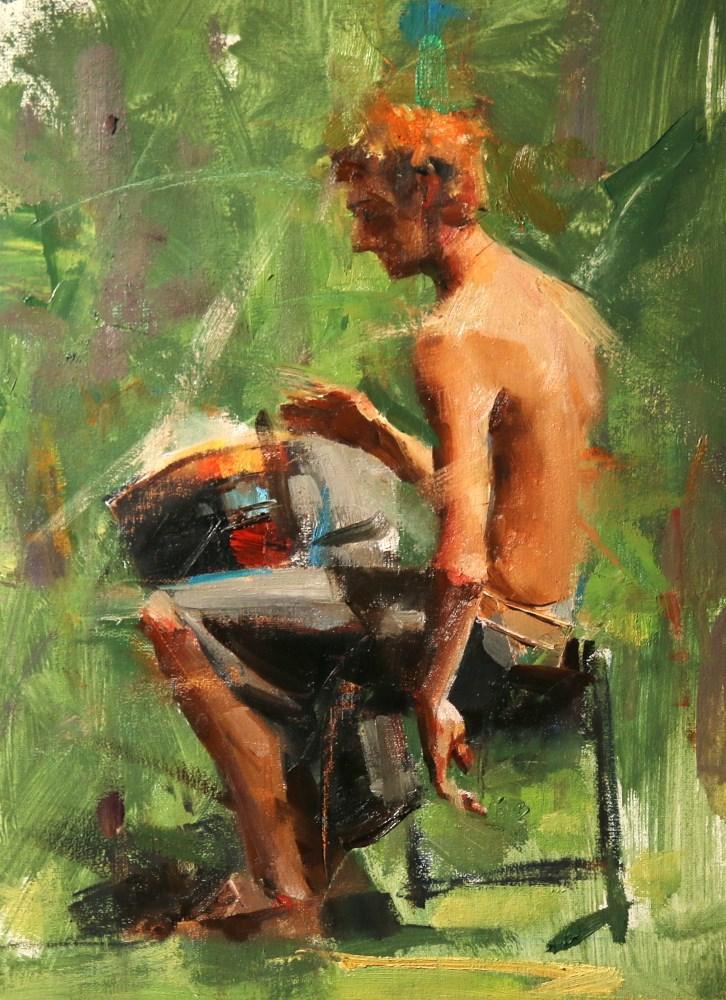 """""""Drummer 3"""" original fine art by Qiang Huang"""