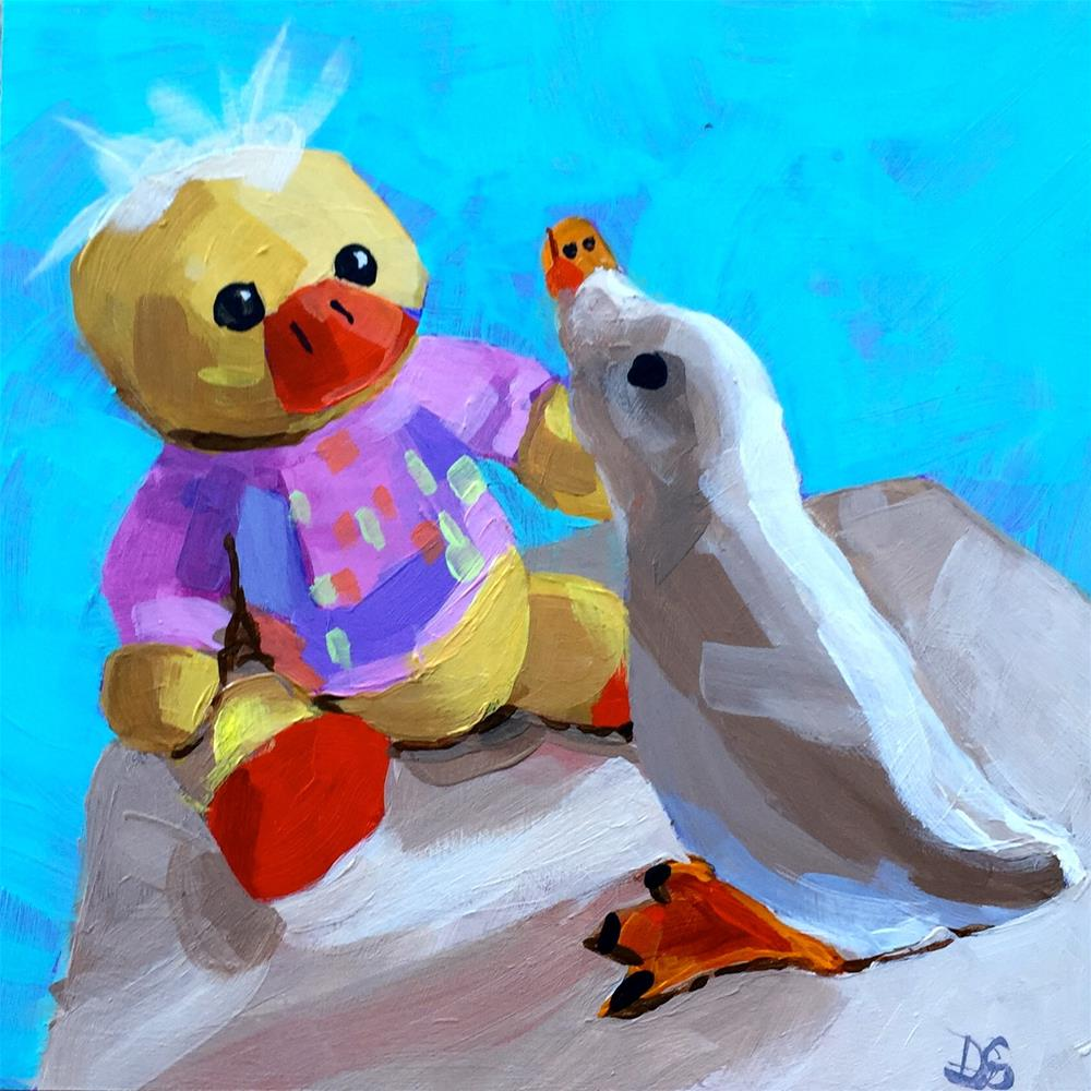 """Duck Duet"" original fine art by Diana Stewart"
