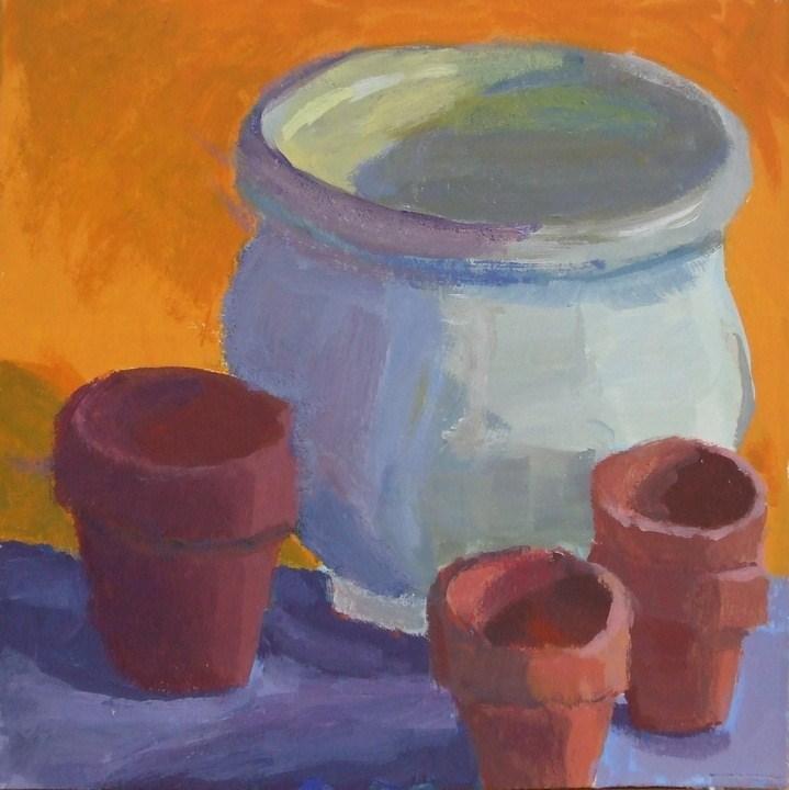 """""""Vessels of Color"""" original fine art by Meredith Adler"""