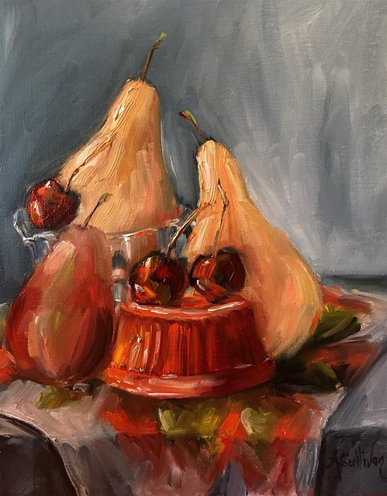 """Gathering still life painting by Alabama Artist Angela Sullivan"" original fine art by Angela Sullivan"