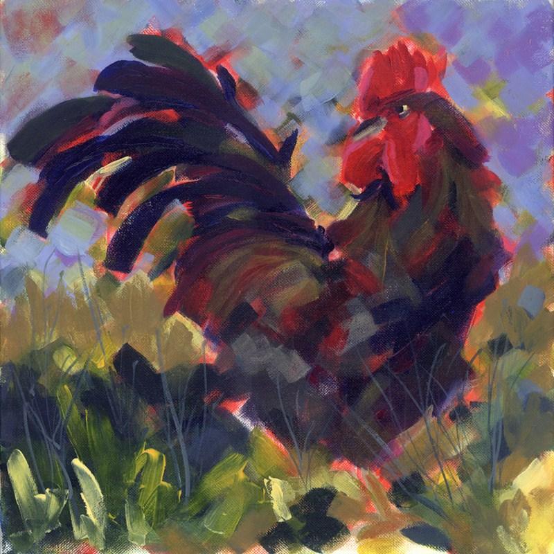 """Rooster Royale"" original fine art by Pamela Gatens"